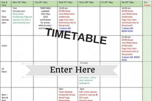 Time Table – Group Classes only