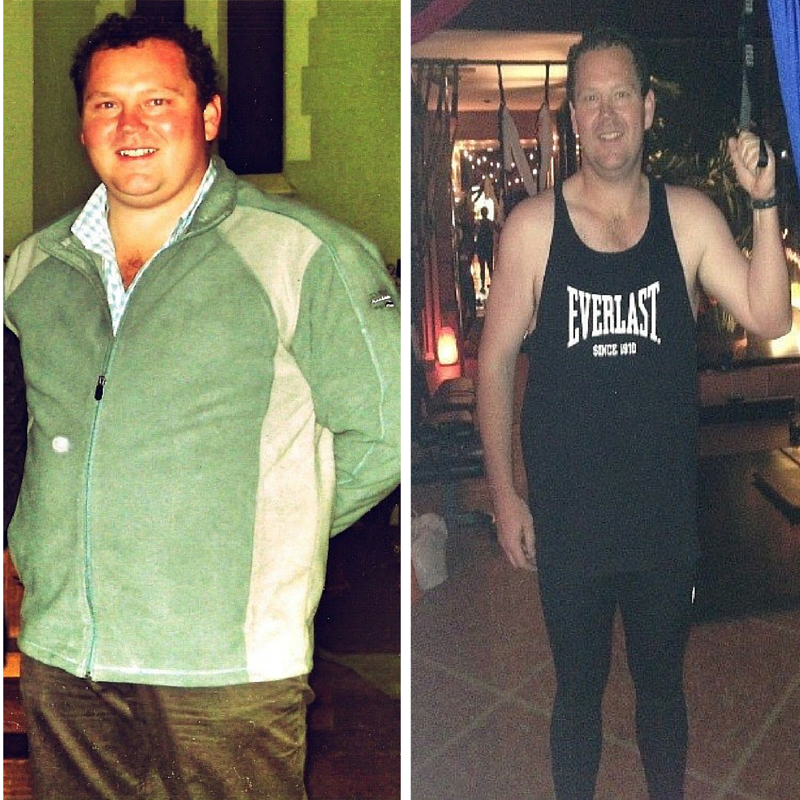 Tim lost 59 kg and 55 inches all over in 18 months