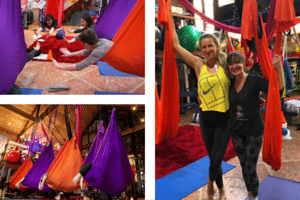 Victoria Azarenka Loves Aerial Yoga at Vibes