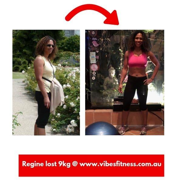 Body Transformation Regine Lost 9 kg
